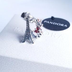 Pandora Minnie Mouse Eiffel Tower Charm Silver